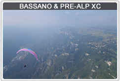 See both XC & Thermal Courses in Bassano del Grappa, mix of mountains and flatland flying